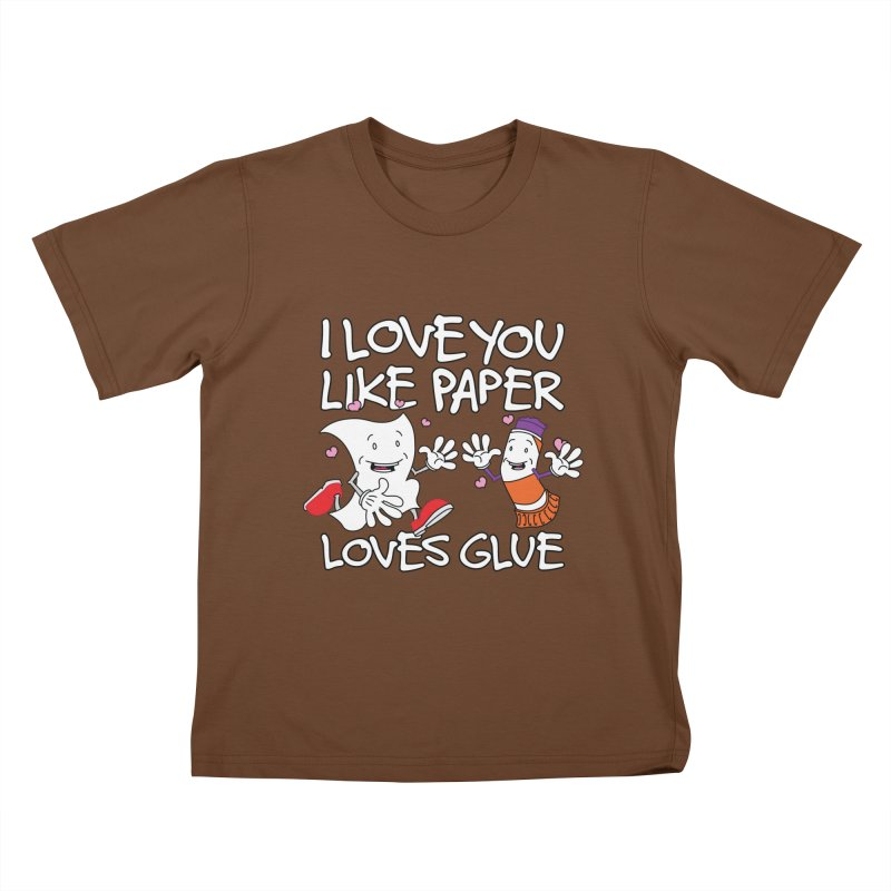 I Love You Like Paper Loves Glue Kids T-Shirt by Dean Cole Design
