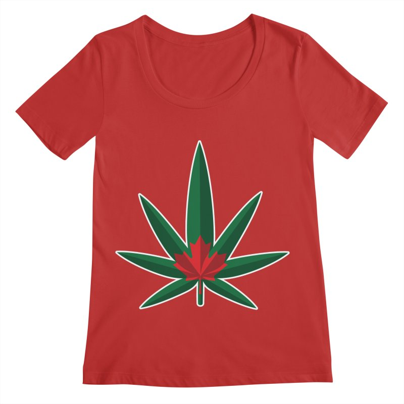 1017 is the new 420 Women's Regular Scoop Neck by Dean Cole Design