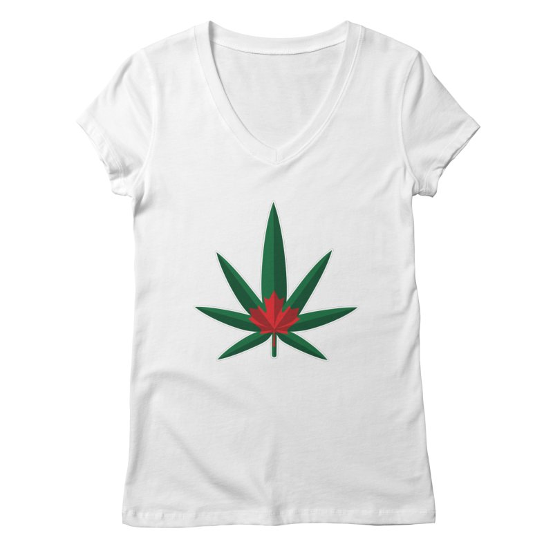 1017 is the new 420 Women's Regular V-Neck by Dean Cole Design