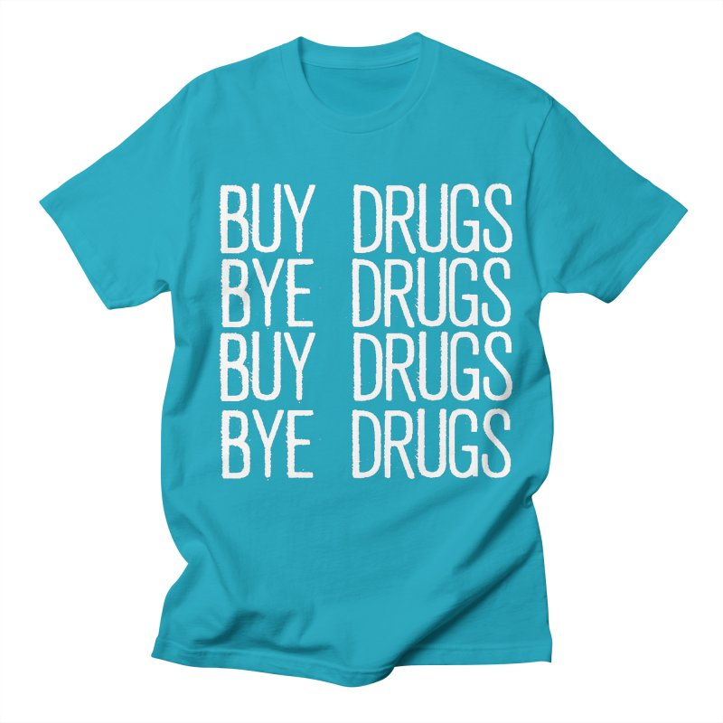 Buy Drugs, Bye Drugs. Men's Regular T-Shirt by Dean Cole Design