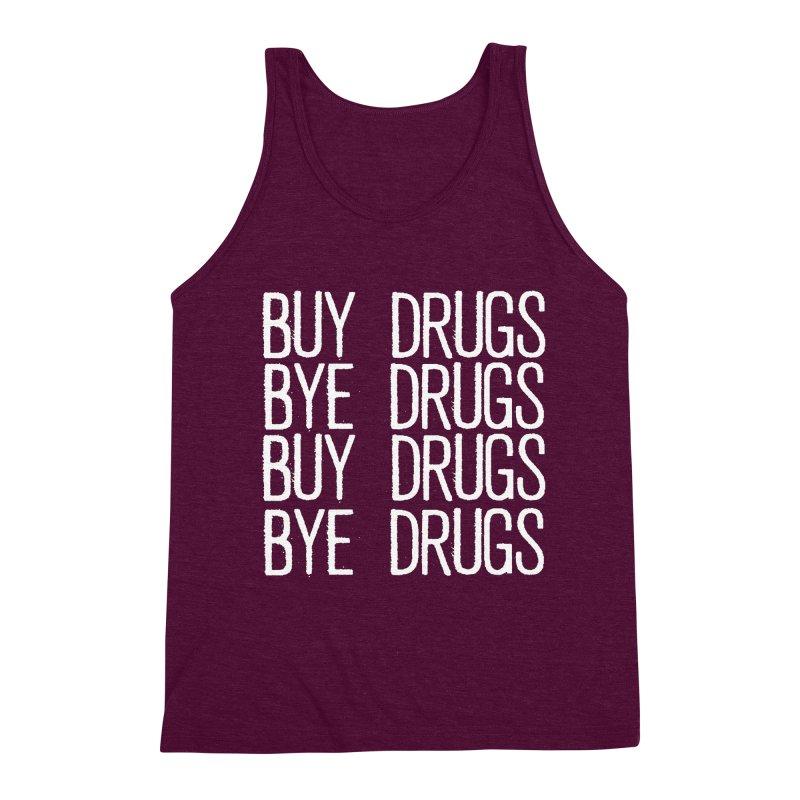 Buy Drugs, Bye Drugs. Men's Triblend Tank by Dean Cole Design