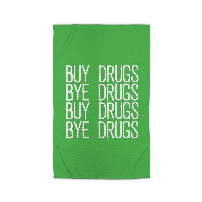 Buy Drugs, Bye Drugs. Home Rug by Dean Cole Design