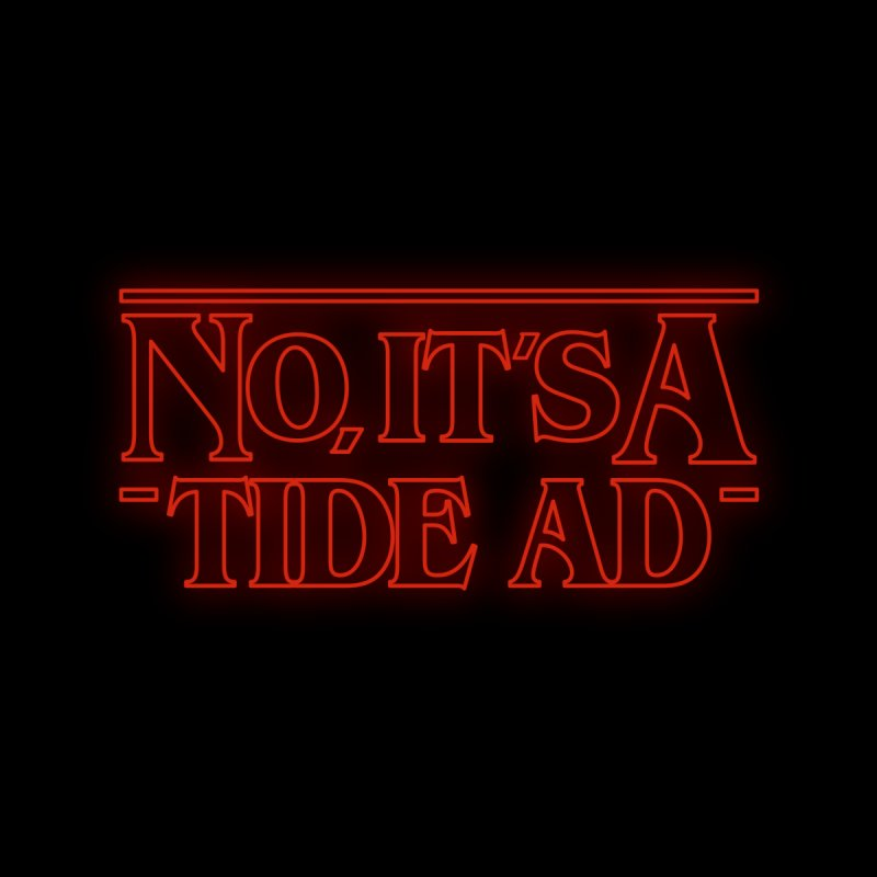Stranger Things - No, It's a Tide Ad Accessories Beach Towel by Dean Cole Design