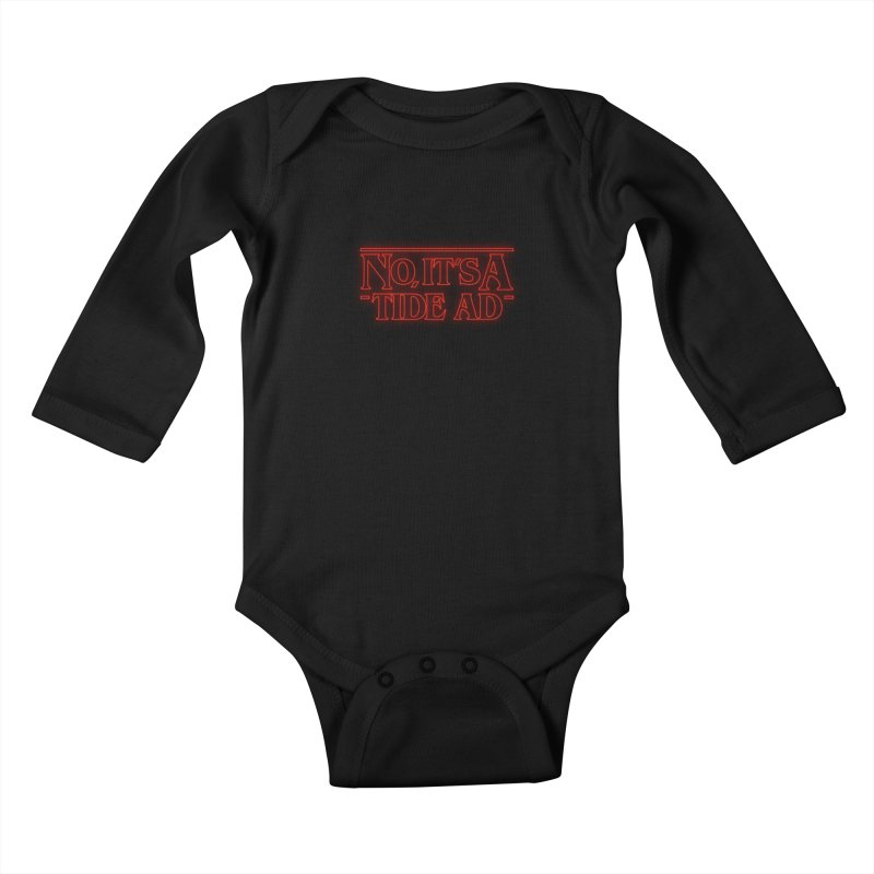 Stranger Things - No, It's a Tide Ad Kids Baby Longsleeve Bodysuit by Dean Cole Design