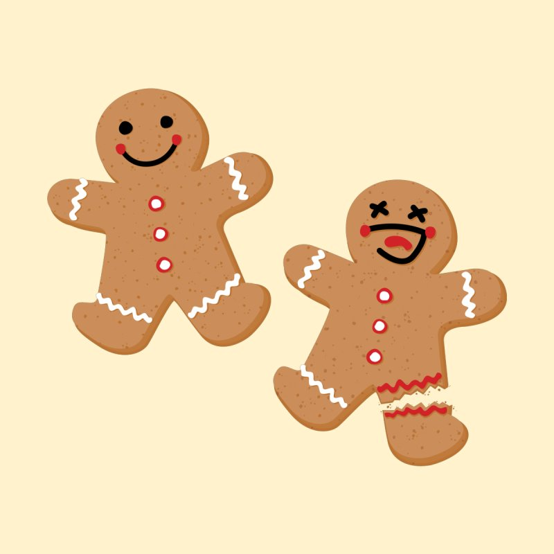 Gingerbread People Accessories Sticker by Dean Cole Design
