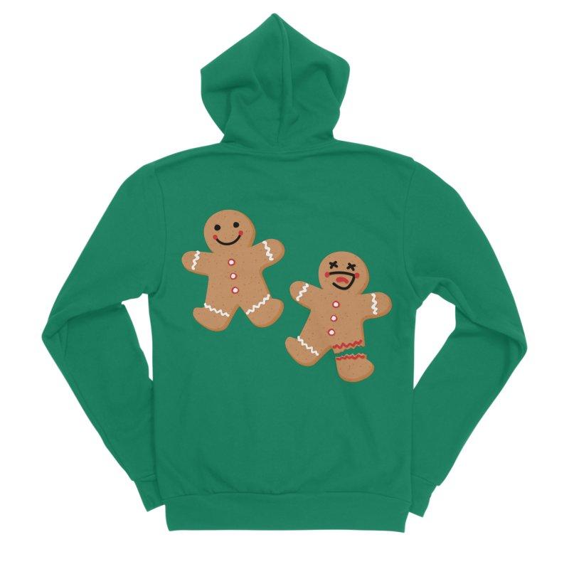 Gingerbread People Women's Sponge Fleece Zip-Up Hoody by Dean Cole Design
