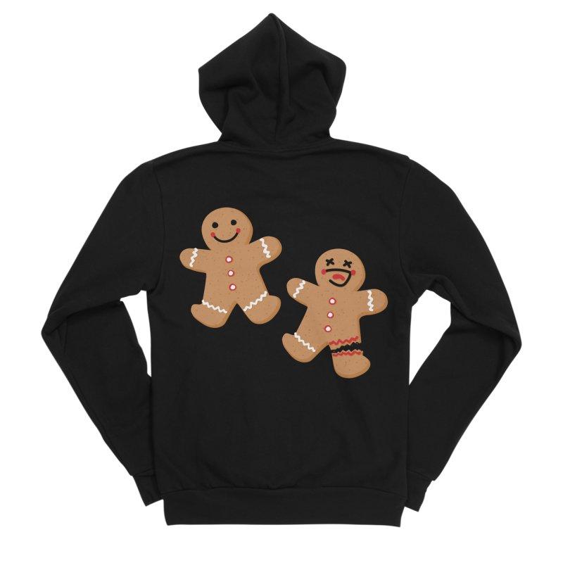 Gingerbread People Men's Zip-Up Hoody by Dean Cole Design