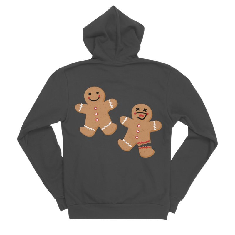 Gingerbread People Men's Sponge Fleece Zip-Up Hoody by Dean Cole Design