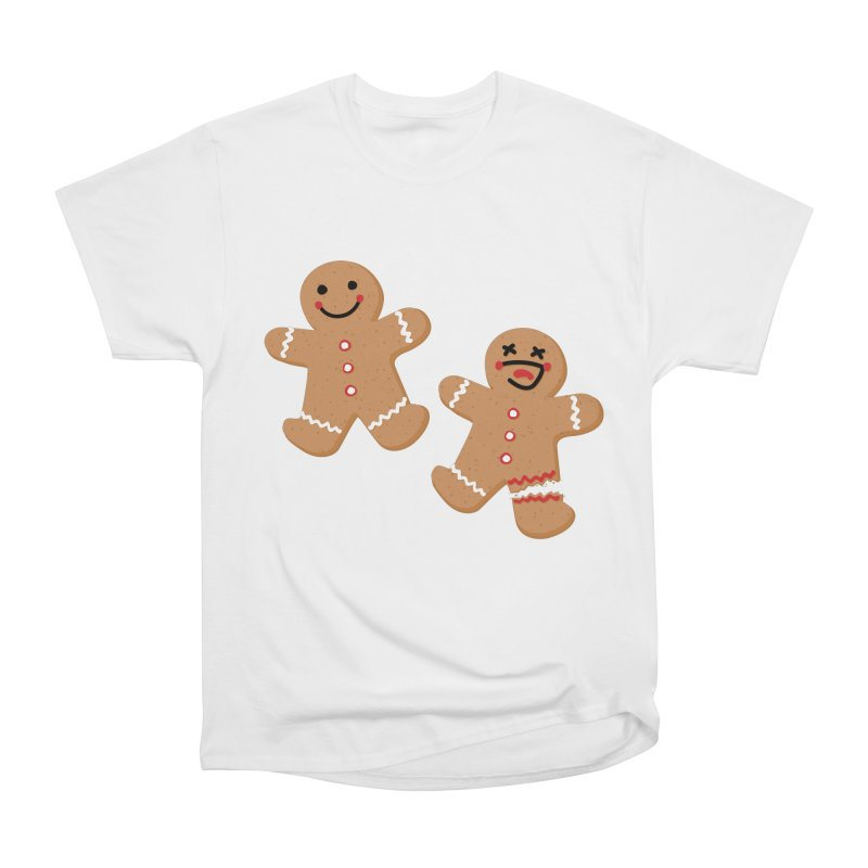 Gingerbread People Women's Heavyweight Unisex T-Shirt by Dean Cole Design