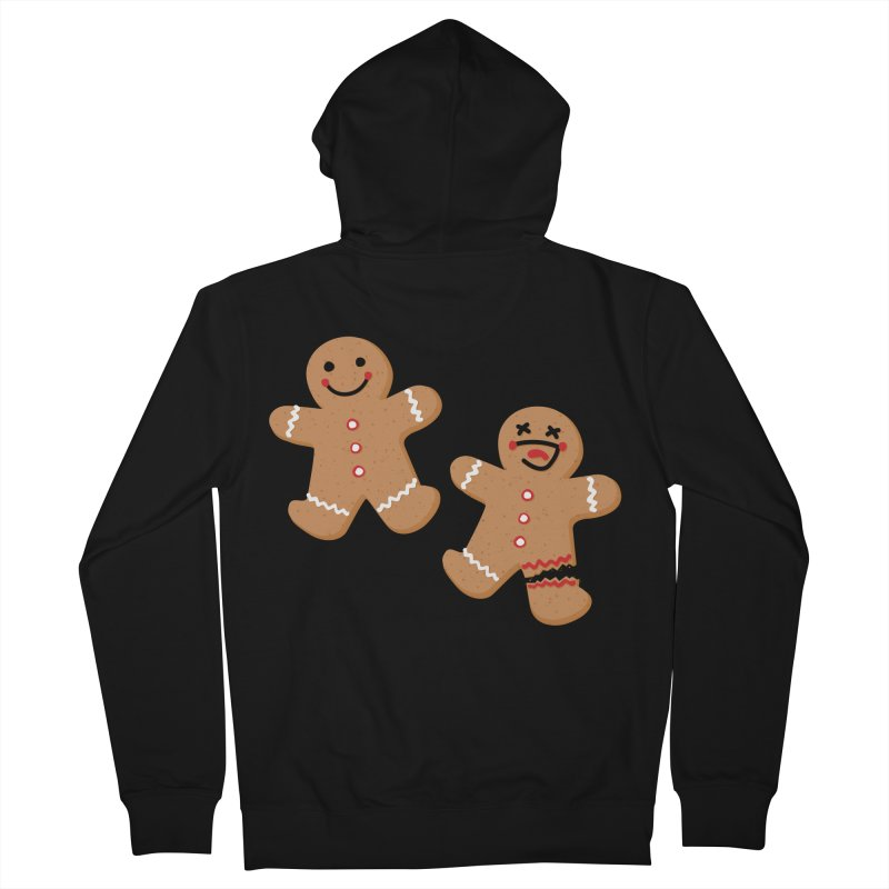 Gingerbread People Women's French Terry Zip-Up Hoody by Dean Cole Design