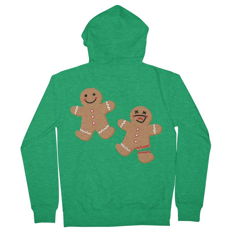 Gingerbread People Men's Zip-Up Hoody by Dean Cole Design