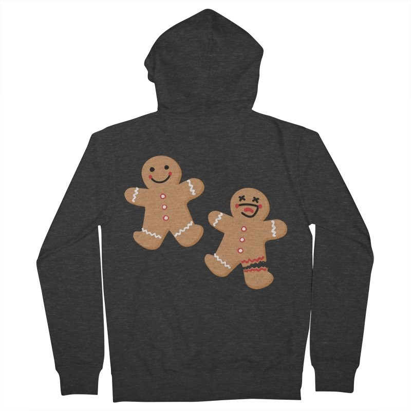 Gingerbread People Men's French Terry Zip-Up Hoody by Dean Cole Design