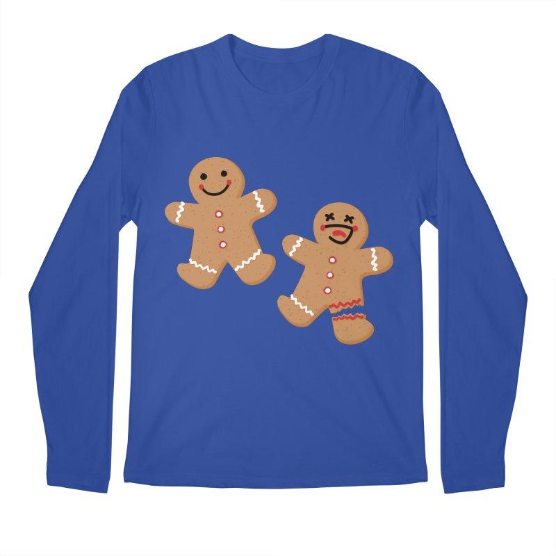 Gingerbread People Men's Regular Longsleeve T-Shirt by Dean Cole Design