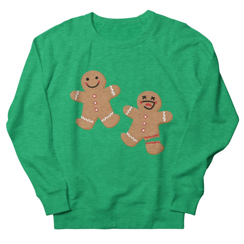Gingerbread People Men's French Terry Sweatshirt by Dean Cole Design