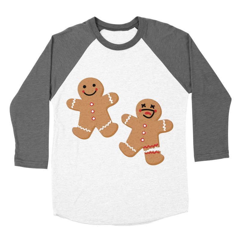 Gingerbread People Women's Baseball Triblend Longsleeve T-Shirt by Dean Cole Design