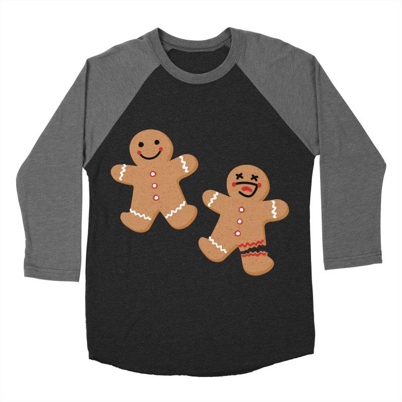 Gingerbread People Women's Baseball Triblend Longsleeve T-Shirt by Dean Cole Design