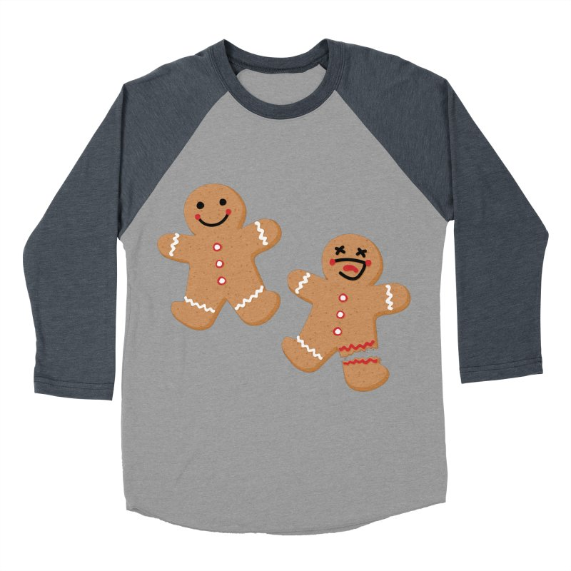 Gingerbread People Men's Baseball Triblend Longsleeve T-Shirt by Dean Cole Design
