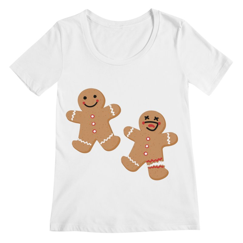 Gingerbread People Women's Regular Scoop Neck by Dean Cole Design