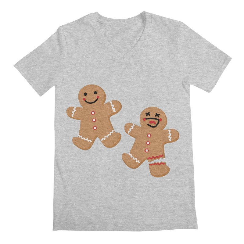 Gingerbread People Men's Regular V-Neck by Dean Cole Design