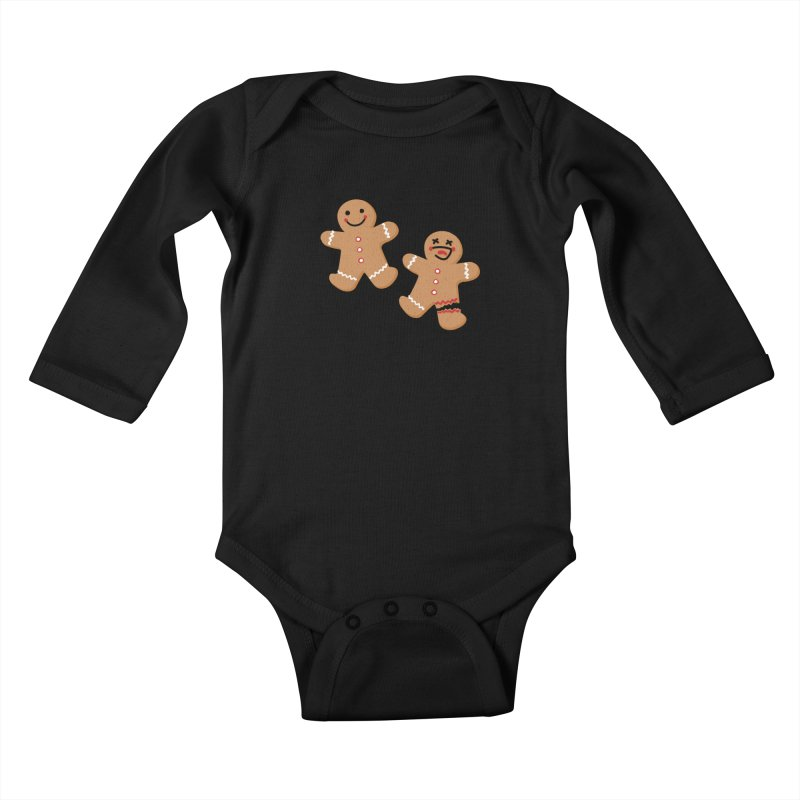Gingerbread People Kids Baby Longsleeve Bodysuit by Dean Cole Design