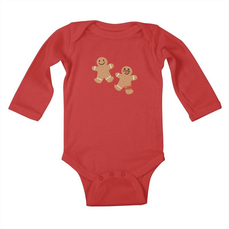 Gingerbread People Kids Baby Longsleeve Bodysuit by Dean Cole Design