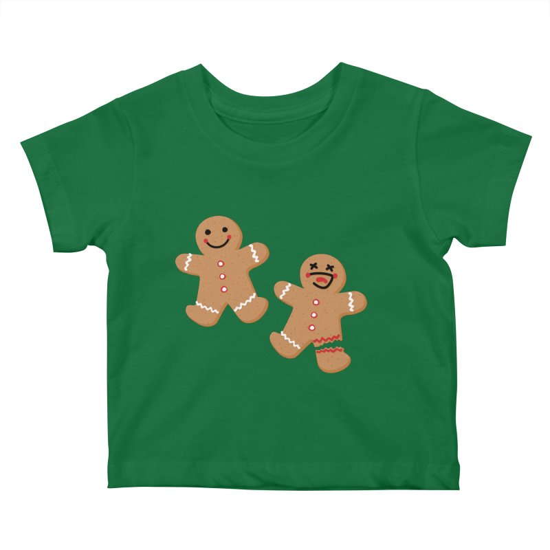 Gingerbread People Kids Baby T-Shirt by Dean Cole Design