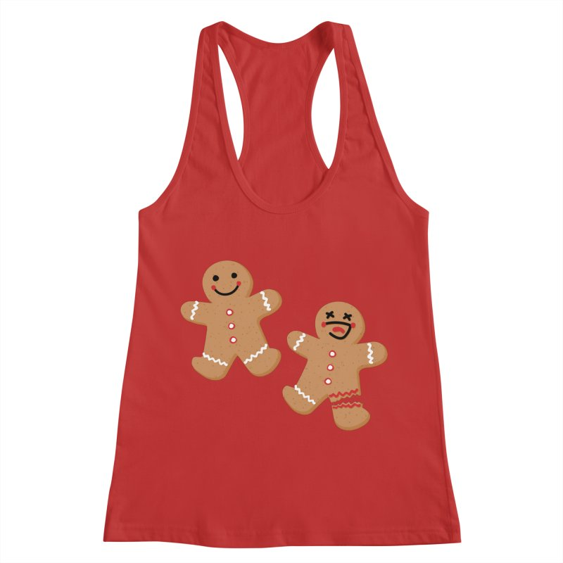 Gingerbread People Women's Racerback Tank by Dean Cole Design