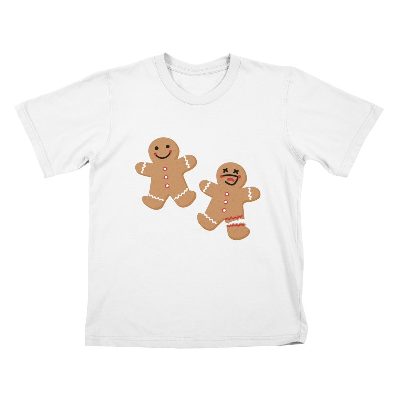 Gingerbread People Kids T-Shirt by Dean Cole Design