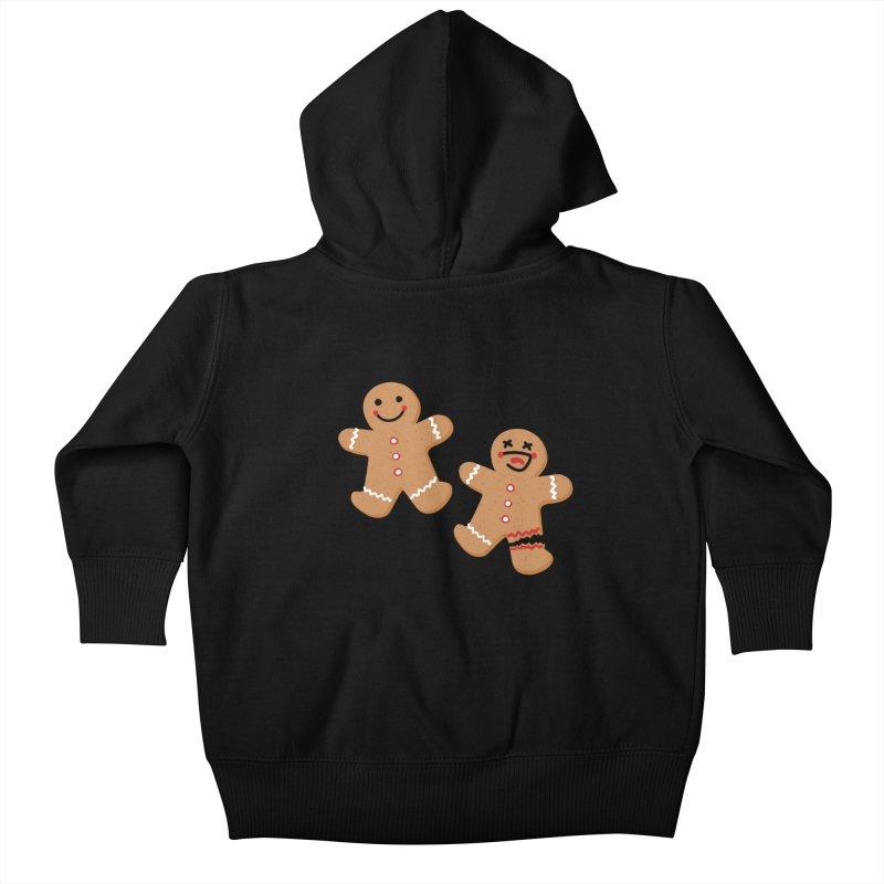 Gingerbread People Kids Baby Zip-Up Hoody by Dean Cole Design