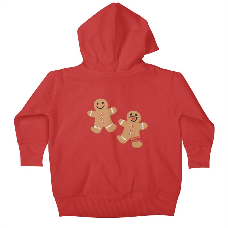 Gingerbread People Kids Baby Zip-Up Hoody by Dean Cole Design
