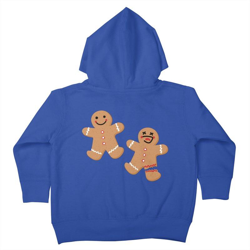 Gingerbread People Kids Toddler Zip-Up Hoody by Dean Cole Design