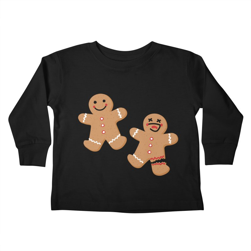 Gingerbread People Kids Toddler Longsleeve T-Shirt by Dean Cole Design