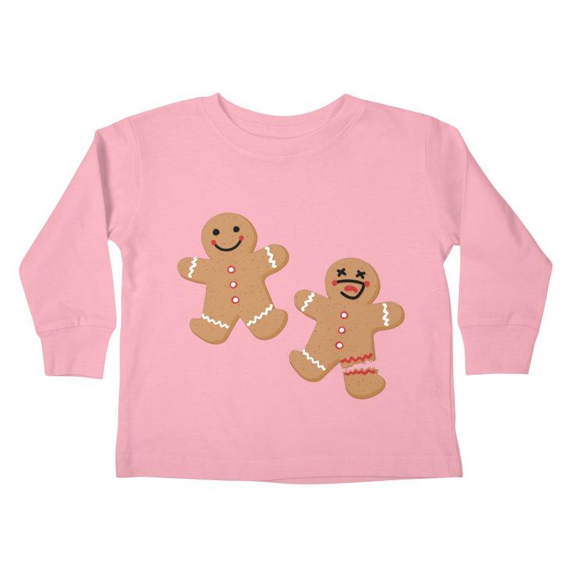 Gingerbread People Kids Toddler Longsleeve T-Shirt by Dean Cole Design