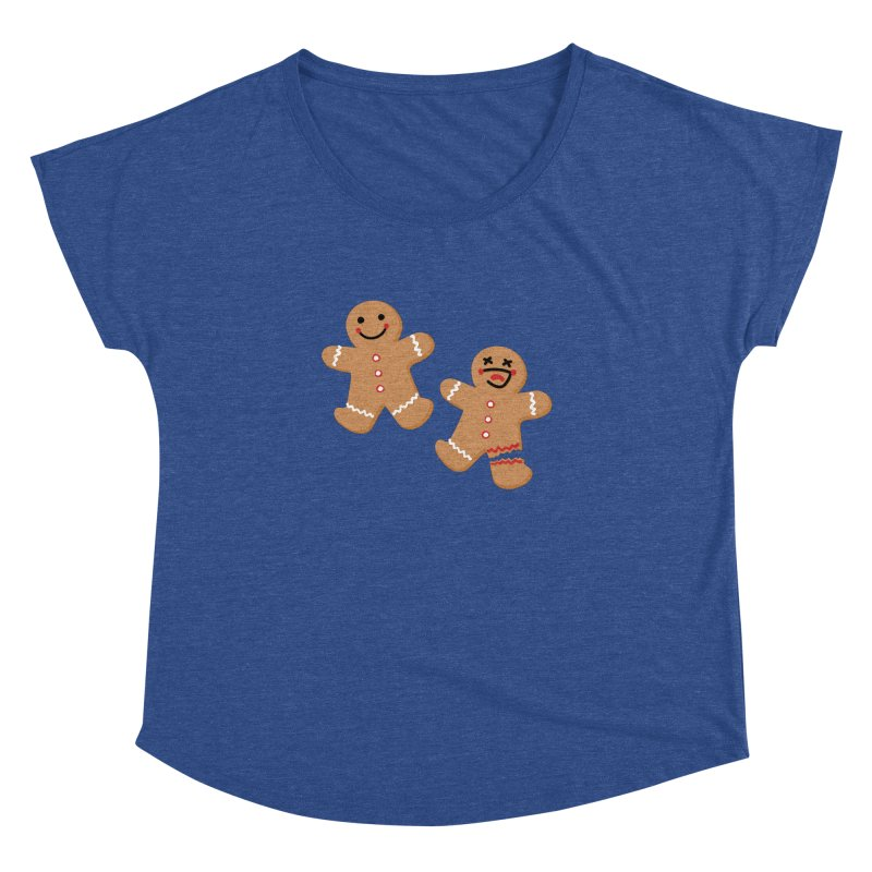 Gingerbread People Women's Dolman Scoop Neck by Dean Cole Design