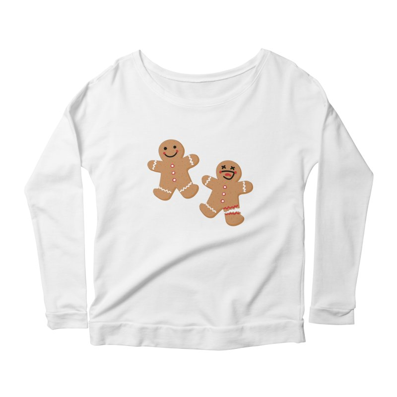 Gingerbread People Women's Scoop Neck Longsleeve T-Shirt by Dean Cole Design