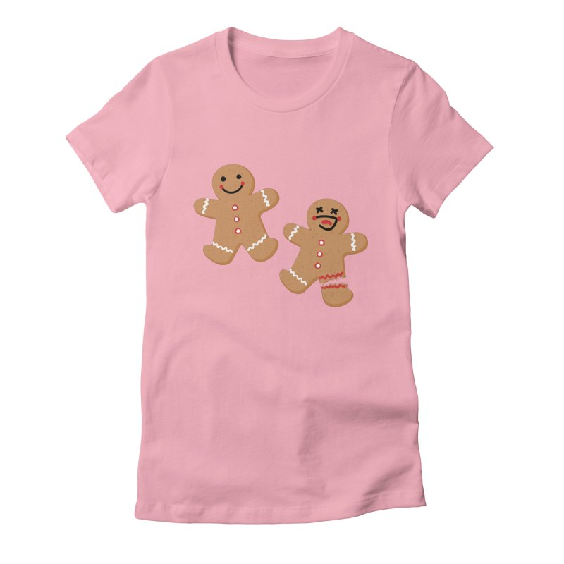 Gingerbread People Women's Fitted T-Shirt by Dean Cole Design