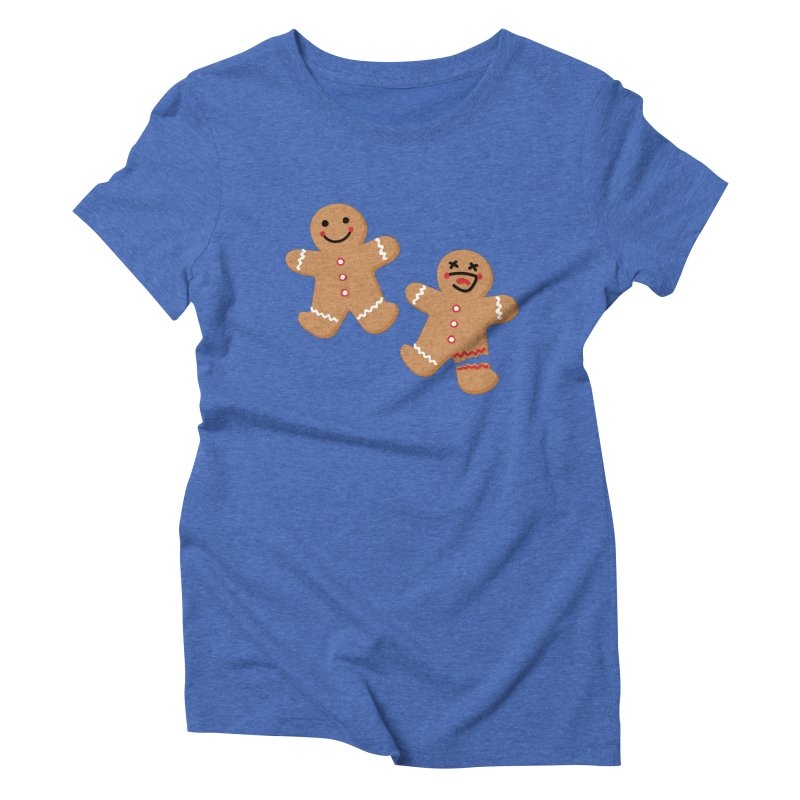 Gingerbread People Women's Triblend T-Shirt by Dean Cole Design