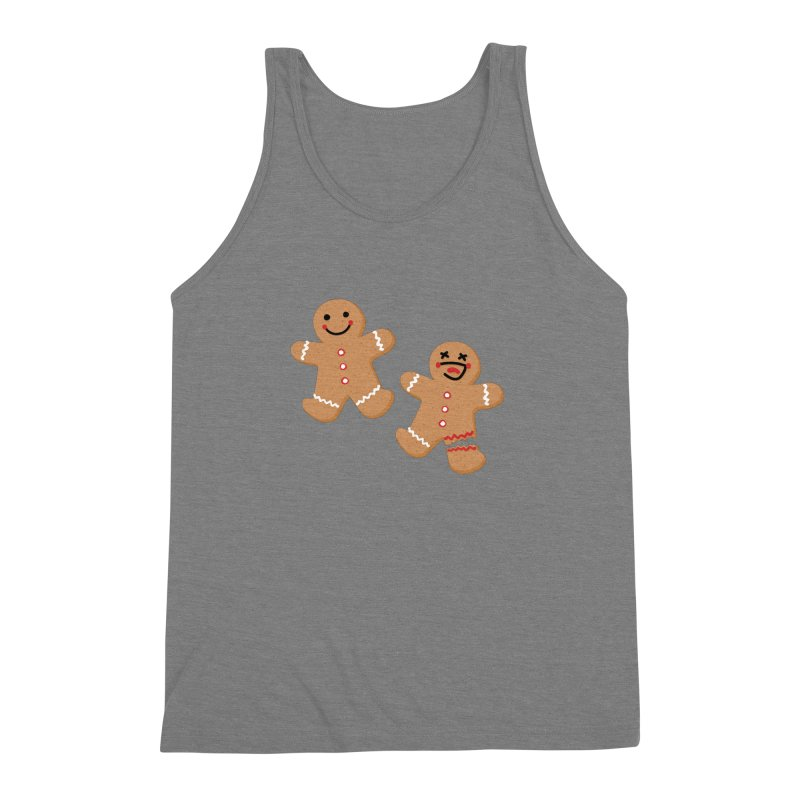 Gingerbread People Men's Triblend Tank by Dean Cole Design
