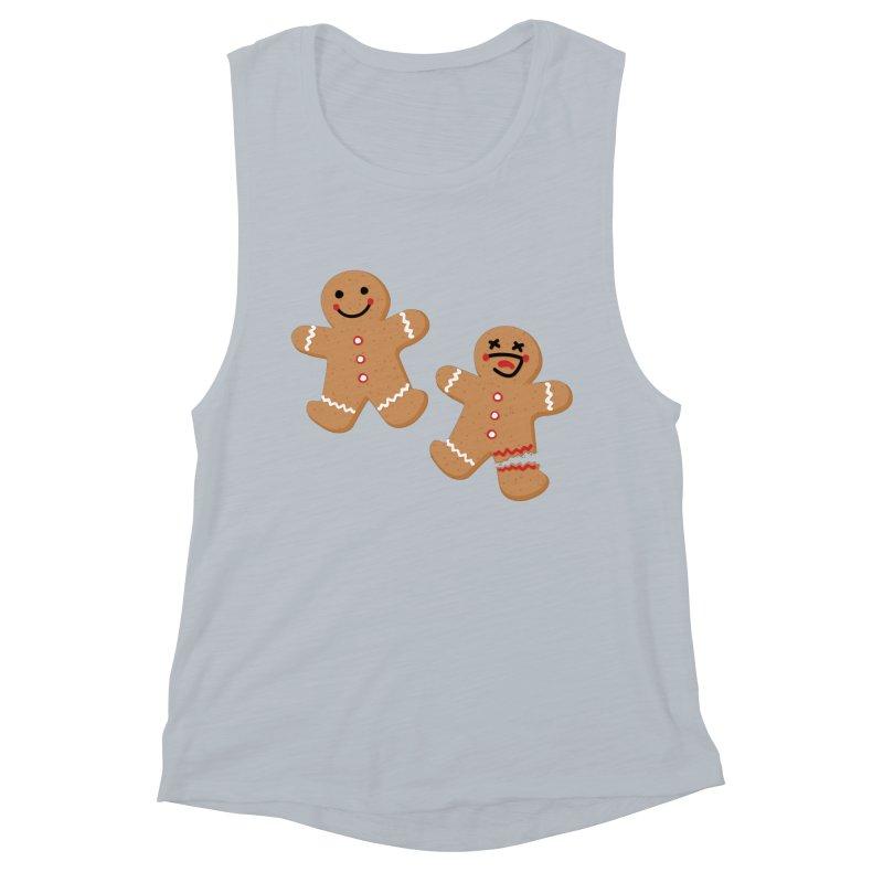 Gingerbread People Women's Muscle Tank by Dean Cole Design