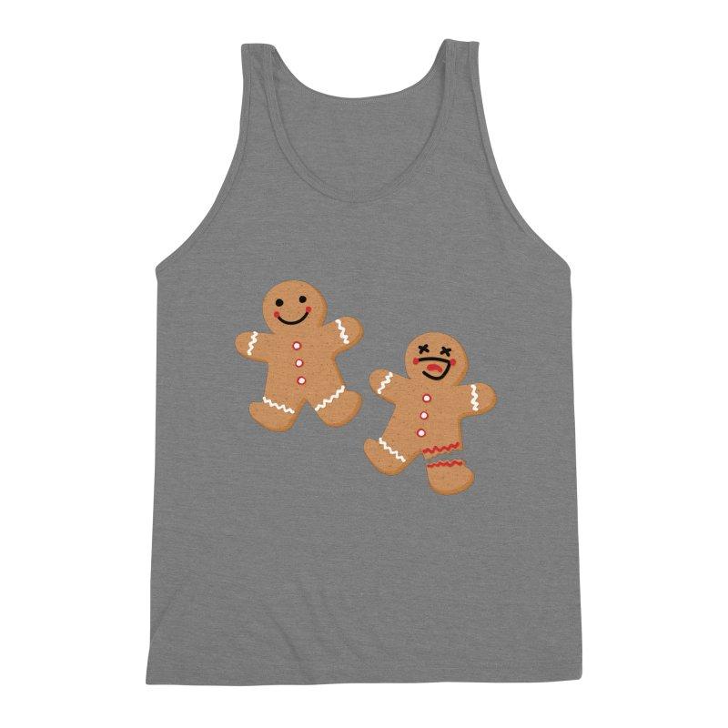 Gingerbread People Men's Triblend Tank by Dean Cole Design