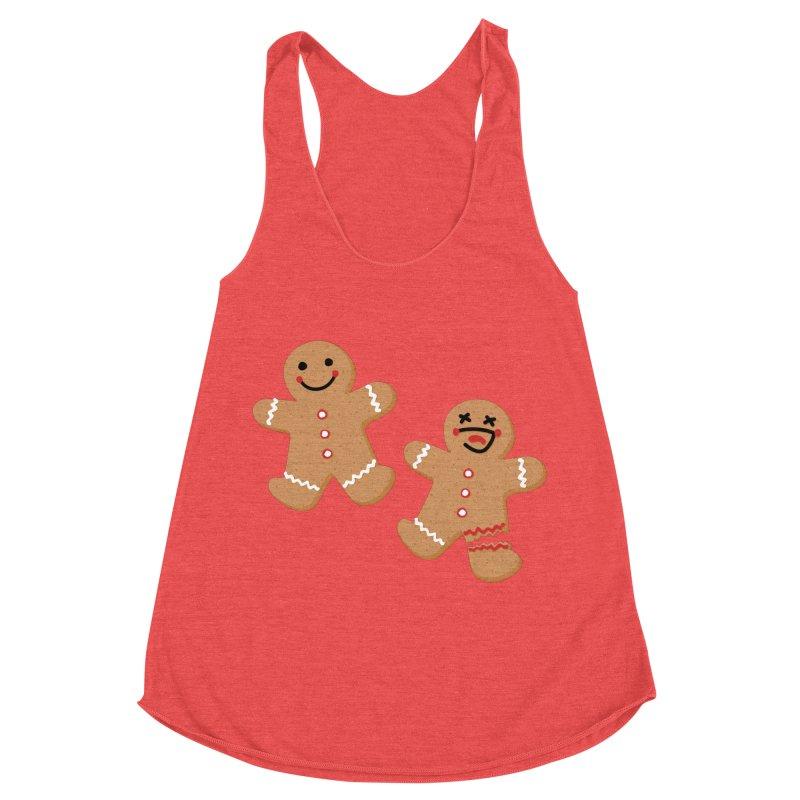 Gingerbread People Women's Racerback Triblend Tank by Dean Cole Design