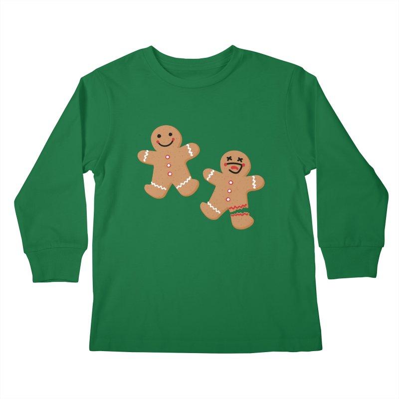Gingerbread People Kids Longsleeve T-Shirt by Dean Cole Design