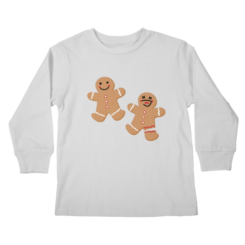 Gingerbread People Kids Longsleeve T-Shirt by Dean Cole Design