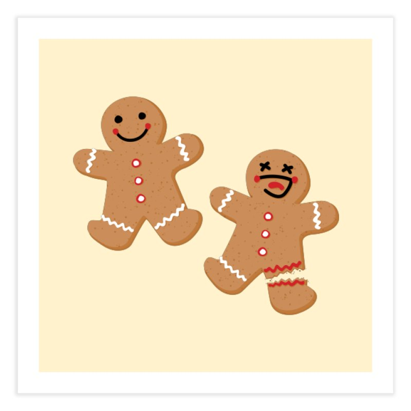 Gingerbread People Home Fine Art Print by Dean Cole Design