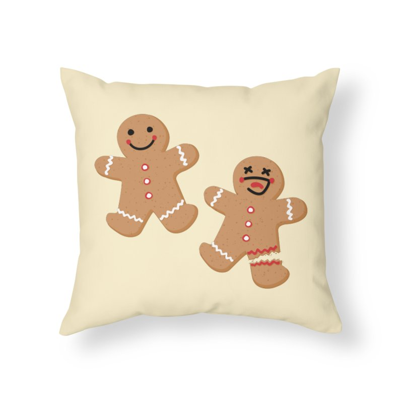 Gingerbread People Home Throw Pillow by Dean Cole Design