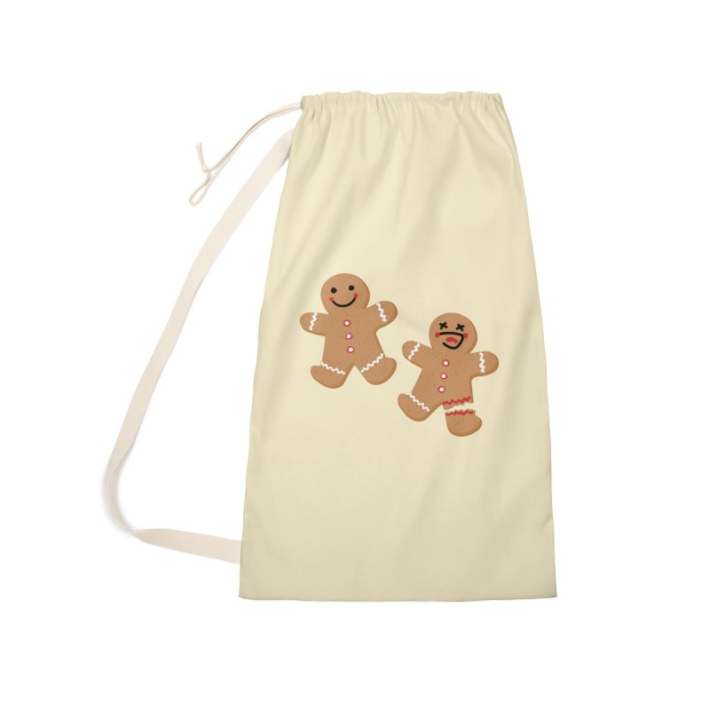 Gingerbread People Accessories Laundry Bag Bag by Dean Cole Design