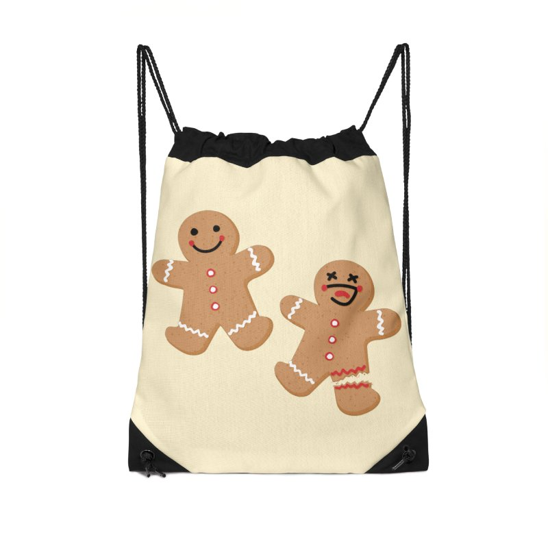Gingerbread People Accessories Drawstring Bag Bag by Dean Cole Design