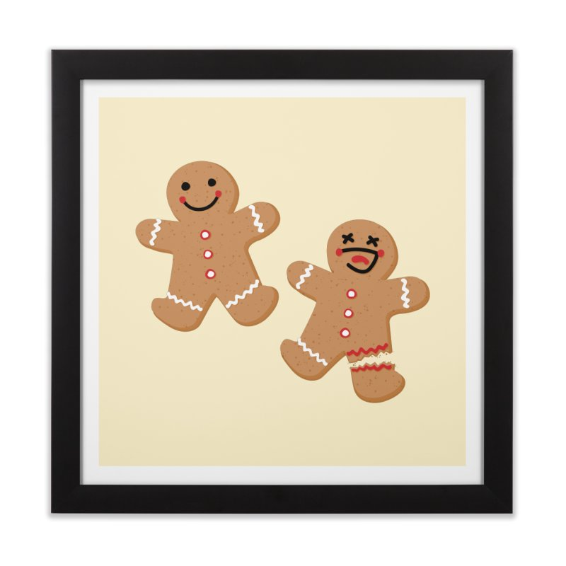 Gingerbread People Home Framed Fine Art Print by Dean Cole Design