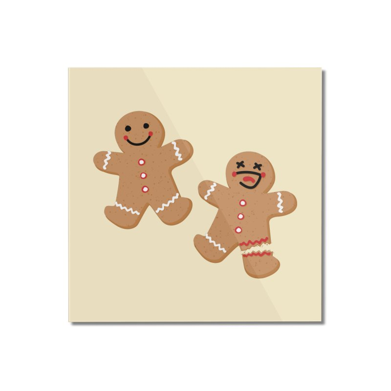 Gingerbread People Home Mounted Acrylic Print by Dean Cole Design