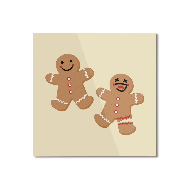 Gingerbread People Home Mounted Aluminum Print by Dean Cole Design